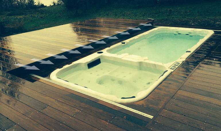 Protection de spa : terrasse mobile, amovible pour spa.